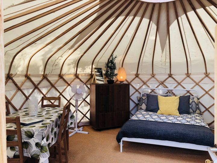 Sleeping and Dining Area in Nare Yurt