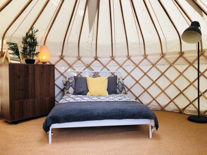 Sleeping area of Nare Yurt