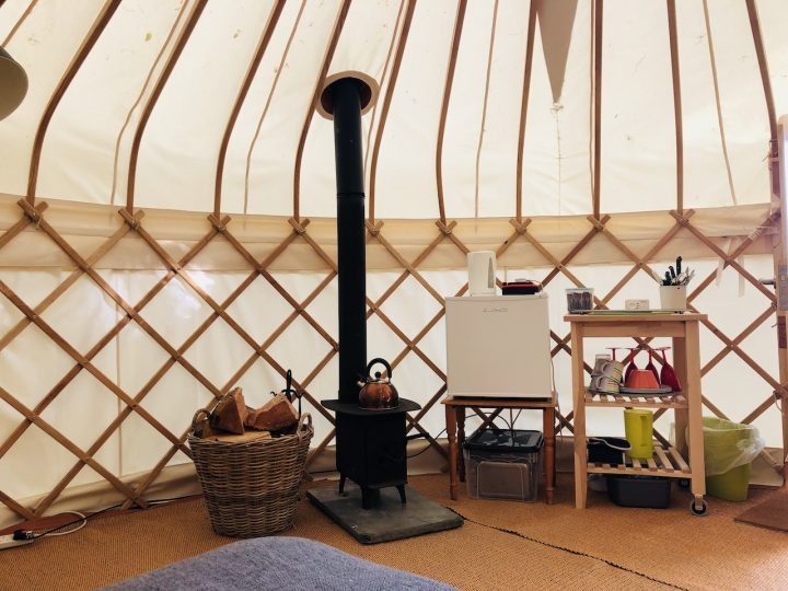 Kitchen Area of Nare Yurt