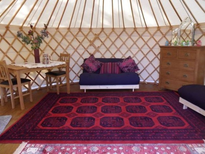 Inside of Yurts