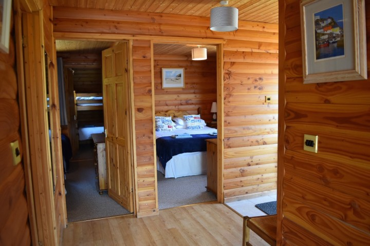 Inside of Lerryn Log Cabin