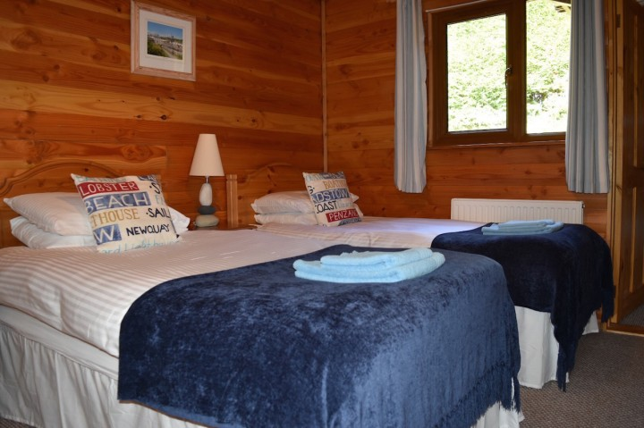 Twin Room in Lerryn Log Cabin